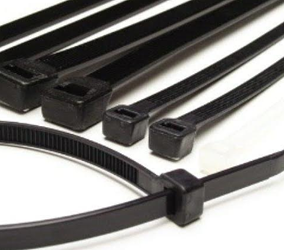 "5-1/2"" x 40 lb Locking Cable Ties Black -UV Rated- 3000 pcs"