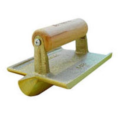 Bon 12-577 Bronze Concrete Hand Groover w/Wooden Handle
