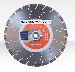 "12"" Husqvarna 542751358 Vari-Cut Diamond Saw Blade Wet/Dry  5 pc"