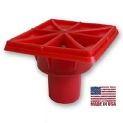 "OSHA RED Rebar Caps- #3-#11 ""MADE IN USA""-100 pcs"