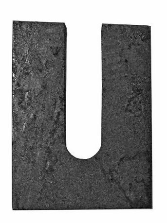 "1/16"" x 3"" x 5"" Horseshoe Shim Plain Steel- 100 pc"