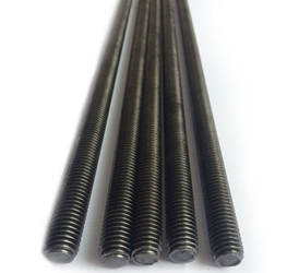"1"" x 72"" FullyThreaded Rod-Plain Steel -3 pcs/bundle"