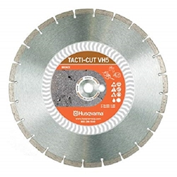 "14"" Husqvarna 542774463 VH 5  Diamond Saw Blade Wet/Dry Target VH5,Tacti-Cut,Stationary Saw blades, Segmented Diamond blades,Blade for gas powered saw, Blade for Stihl saw, VH5 Blade, Blades for Cutting Concrete, Masonry saw blades, Concrete saw blades, Husqvarna Diamond Blades, Circular Diamond saw blades, Diamond wet saw blades, Concrete cutting blades, Wet/Dry cutting blades, Cut off saw blades, Asphalt cutting blades, CMU cutting blades, diamond blades for power saws, Diamond blades for chop saws"