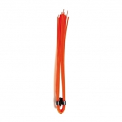 "6"" Polypropylene Marking Whiskers-Safety Orange- 1000 pc/box"