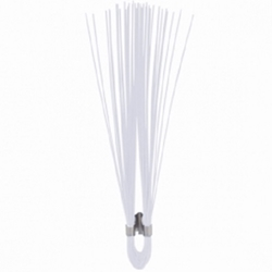 "6"" Polypropylene Marking Whiskers-White- 1000 pc/box trail marker,Survey markers, Utility line markers, Athletic field markers, Sprinkler head marker, Irrigation line marker, gas line marker, water line marker, Underground utility marker"