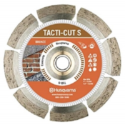 "7"" Husqvarna 542761412 Tacti-Cut S-Dri Disc Segmented Blade-5 pack  angle grinder blades, , 7 inch diamond blades,wet/dry diamond blades, diamond segmented blades, saw blades for cutting stone, saw blades for cutting tile,saw blades for cutting brick. masonry saw blades, segmented Saw blades, diamond saw blade for angle grinder"
