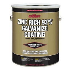 Aervoe Crown Brite 93% Zinc Rich Cold Galv. Coating-Gal galvanizing touch up paint, anti rust paint, anti corrosion paint, Galvanizing Paint, Zinc coating,, zinc paint. zinc spray, regalvanize, Crown Brite Paint, AERVOE galvanizing paint, Cold galvanizing paint, Zinc Rich galvanizing paint