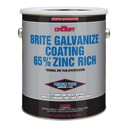 Aervoe Crown Brite Galvanize Coating Gal. Galvanizing Paint, Zinc coating, zinc paint. zinc spray, re galvanize, Crown Brite Paint, Anit corrosion paint, galvanizing touch up paint, paint for rust prevention, rust inhibitor paint
