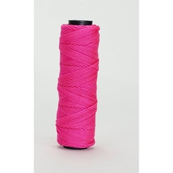 Bon 11-884 #18 Braided Mason Line Neon Pink - 1000 ft/roll- 12 pack