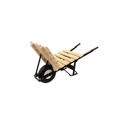 "Bon 28-916 Brick & Tile Wheel Barrow- Steel Handles & 16"" Flat Free Tire"