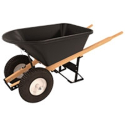 "Bon 11-661 Poly Tray wheelbarrow with Wood handles and 16"" Knobby Tires"