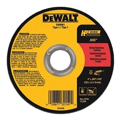 "DeWalt DW8061- 4-1/2"" x .045"" 5/8"" Cutoff Wheel-50 pc"