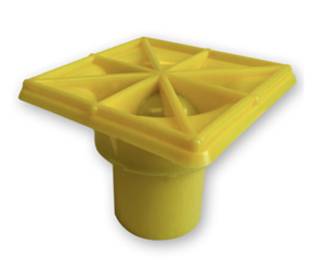 "OSHA YELLOW Rebar Safety Caps- #7- #12  ""MADE IN USA""-2000 pc"