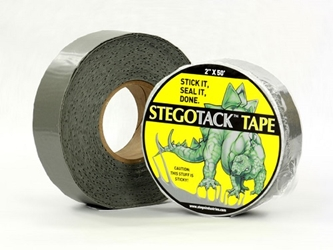 "Stego Grey Double Sided Tack Tape- 2"" W x 50 L"