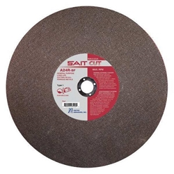 SAIT 24135 Type 1 Portable Reinforced Cut-Off Wheel, 14 in Dia x 1/8 in x1 in, Aluminum Oxide Abrasive