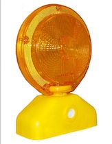 Barricade Flasher Light with Photo Cell-10pk traffic safety lights,traffic warning lights, construction light, flashing barricade lights, barricade light with photo cell, Lights for jersey barrier, highway safety lights, flashing safety lights,traffic barricade lights,