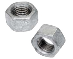 "1/4""-20 Hex Nut Hot Dip Galvanized-1000 pcs"
