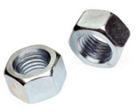 "1""-8 Hex Nut Zinc Plated-50 pcs"