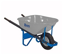 Bon 84-974- 6 cu ft Steel Tray Wheelbarrow