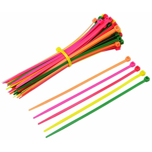 multi purpose 11 inch neon pink cable ties