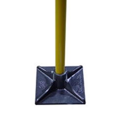 "Bon Cast Head Tamper w/ Fiberglass Handle 8"" x 8"" dirt tamp, tamper, steel tamper, soil preparation, pack soil,level soil, Pack gravel, Level sand, pack sand,Soil Tamper, Steel Tamping Tool, Soil leveling tool, dire leveling tool, Asphalt leveling tool, asphalt packing tool, soil packing tool, hand tamping tool, Hardscape leveling tamper"