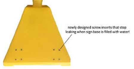 Ideal Shield Pyramid Polyethylene Sign Base OSHA Yellow