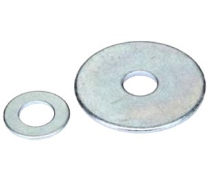 "3/16"" X 1"" Fender Washer -Zinc plated-1000 pc"