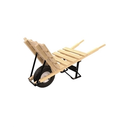 "Bon11-305 Brick & Tile Wheel Barrow - Wood Handle & 16"" Knobby Tire"