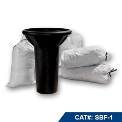 "Deslauriers Sand Bag Funnel 7.5"" ID x 23"" High x 17"" Wide"